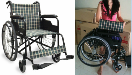 The lightweight model of wheelchair we rent and sell in singapore