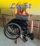 Light wheelchair as demonstrated